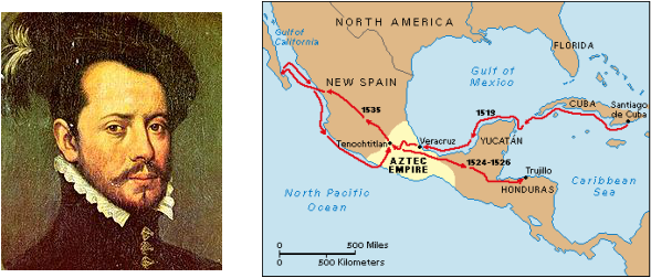 the journey of hernando cortes for gold and riches